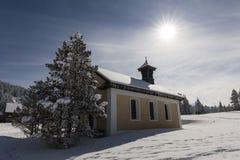 Chapel in winter Wonderland on Langis in Switzerland. Chapel in winter Wonderland on Langis in Central Switzerland royalty free stock images
