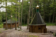 Chapel in wood Stock Photography