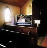 Chapel With Wooden Benches And Organ Stock Photography