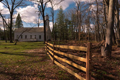 Chapel in the Woods. Building served as a Chapel and Schoolhouse during colonial times Royalty Free Stock Photos