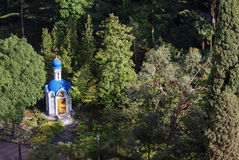 Chapel in the woods, the city of Sochi. 2014 Royalty Free Stock Image