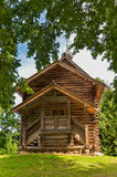 Chapel in the woods. Medieval Rus. Wooden architecture. Veliky Novgorod Stock Photography