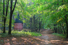 Chapel in the woods. Chapel and monument to the war of the woods Stock Photography