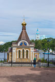 Chapel of Xenia of Petersburg. Vertical frame. Royalty Free Stock Images