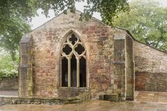 Chapel in the Yorkshire Dales. Chapel of John the Evangelist at Skipton castle in the Yorkshire Dales, England Stock Photo