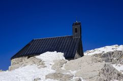 Chapel at the Zugspitze Stock Images