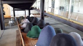 Chapelariamuseum tijdens de Internationale Museumdag stock videobeelden