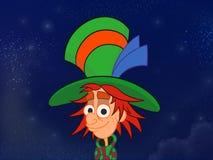 Chapelier dans le grand chapeau coloré Image stock