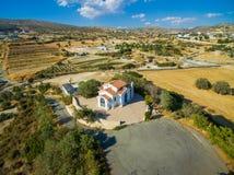 Chapelle aérienne de St George, Germasogia, Limassol Photographie stock libre de droits