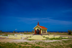 Chapelle Alto Vista, attraction d'Aruba, ABC photographie stock libre de droits