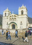 Chapelle antique aux extérieurs d'Arequipa image libre de droits