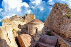 chapelle bizantine du 12ème siècle de St George au château de Kyrenia La CY Photo stock