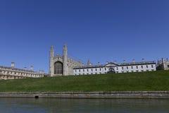 Chapelle Cambridge d'université de rois Images libres de droits