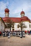 Chapelle catholique dans le style baroque Photographie stock