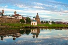 Chapelle d'Alexander Nevsky du monastère de Spaso-Preobrazhensky Solovetsky images libres de droits