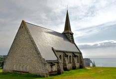 Chapelle d'Etretat, France photos stock