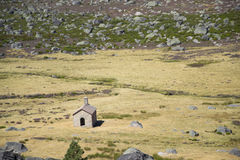 Chapelle dans Estrela Montain, Portugal Photographie stock