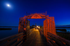 Chapelle dans le clair de lune Photo stock