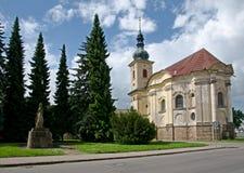 Chapelle dans Smirice, République Tchèque photographie stock libre de droits