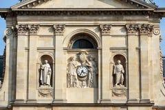 Chapelle de Ла Sorbonne в Париже, Франции Стоковые Изображения RF