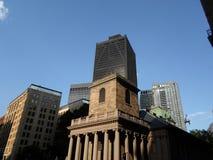 Chapelle de King's, rue de Tremont et rue d'école, Boston, le Massachusetts, Etats-Unis Photographie stock libre de droits