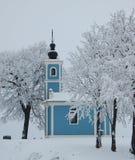 Chapelle de l'hiver image libre de droits