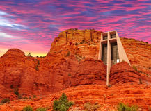 Chapelle de la croix sainte Photos stock