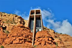 Chapelle de la croix sainte, Sedona, Arizona, Etats-Unis photo stock