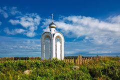 Chapelle de la foi, de l'espoir, de l'amour et de leur mère Sofia La Sibérie, Russ images stock