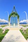 Chapelle de mariage par la plage Images libres de droits