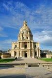 Chapelle de point de repère de Les Invalides dans des Frances de Paris Image stock