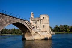 Chapelle de Saint Nicolas sur le pont de saint-Benezet. Avignon, France Images libres de droits