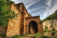 Chapelle de Santa Maria de la Hoz Photographie stock libre de droits