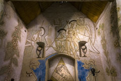 Chapelle de simples de DES de Blaise de saint, foret de La de Milly, France images libres de droits