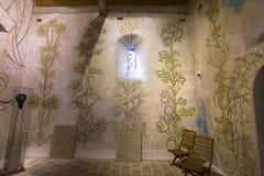 Chapelle de simples de DES de Blaise de saint, foret de La de Milly, France photographie stock