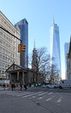 Chapelle de StPaul, New York, Etats-Unis images stock