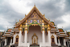 Chapelle de Wat Phra Si Mahathat Photo libre de droits