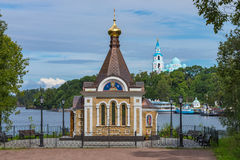 Chapelle de Xenia de Pétersbourg Cadre horizontal Photographie stock