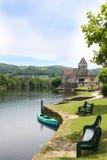 Chapelle des pénitents, sur Dordogne, Correze, France de Beaulieu Images stock