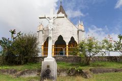 Chapelle du Calvaire,堡垒de法国,马提尼克岛海岛 免版税库存照片
