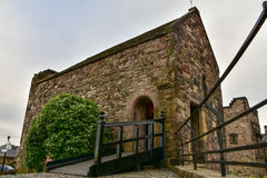 Chapelle du ` s de St Margaret, le bâtiment le plus ancien château à Edimbourg, Edimbourg image libre de droits
