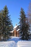 Chapelle en bois images stock