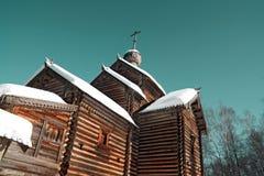 Chapelle en bois photographie stock