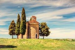 Chapelle en Toscane Images libres de droits