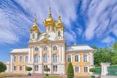 Chapelle est de palais de Petergof ? St Petersburg Russie photographie stock