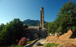 Chapelle Genoese de la Corse Photographie stock libre de droits