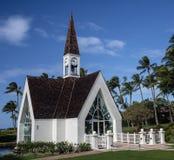 Chapelle hawaïenne de mariage de station de vacances sur Maui Photographie stock