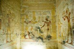 Chapelle intérieure, temple d'Abydos Image stock