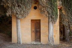 Chapelle Lucignano d Asso, Toscane, Italie Images libres de droits