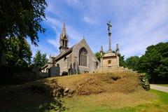 Chapelle Notre Dame de Bonne Nouvelle在洛克罗南在布里坦尼,法国 图库摄影